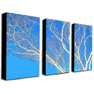 Trademark Fine Art 18 in. x 32 in. Spring Tree by Kathie McCurdy 3 Piece Canvas Art Set KM0111 set