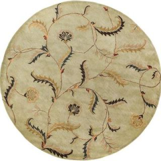 Cornish Pale Moss 8 ft. Round Area Rug Cornish 8RD