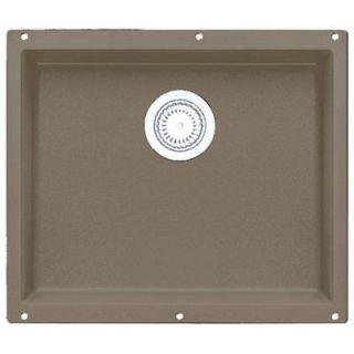 Blanco Precis Undermount Composite 20.75x 18x7.5 0 Hole Single Bowl Kitchen Sink in Truffle 517677