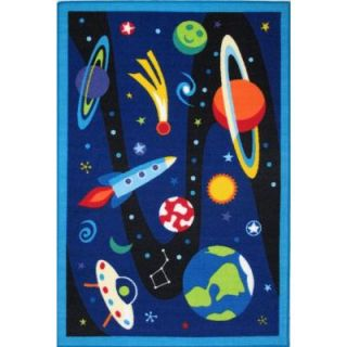 LA Rug Inc. Olive Kids Out of This World Multi Colored 39 in. x 58 in. Area Rug OLK 019 3958