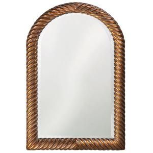 40 in. x 26 in. Arched Rectangle Framed Mirror in Antique Copper 2107