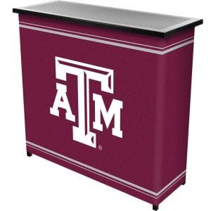 Trademark 2 Shelf 39 in. L x 36 in. H Texas A and M University Portable Bar with Case LRG8000 TAMU