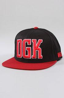 DGK The Freshman Snapback in Black Red