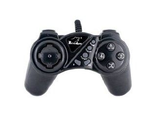 Dual Vibration USB PC Controller Game Pad (Black) Video Games