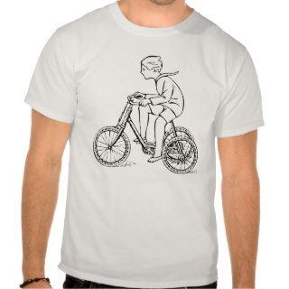 Boy Riding Antique Tricycle Tshirts