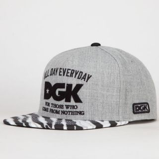 From Nothing Mens Snapback Hat Grey One Size For Men 217832115