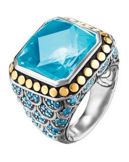 Batu Naga Ring, Blue Topaz, Size 7