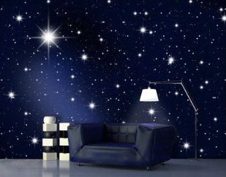 """Fototapete Fototapeten Tapete Tapeten No.119 """"STARS"""" 400x280cm inkl. Kleister Sterne, Weltall, Galaxie, Himmel, Astro, Milchstraße, blau, günstig, Tapete Küche & Haushalt"""