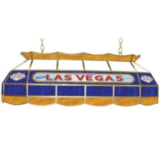 Trademark Global Las Vegas 3 Light Stained Glass Hanging Tiffany Lamp LV4000