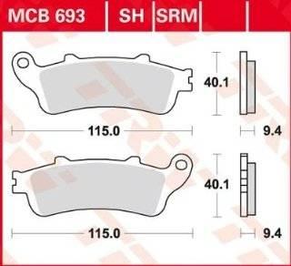 Lucas TRW Bremsbeläge MCB 693 SRM vorne Honda FES Pantheon 125 JF12 03 : .de: Auto