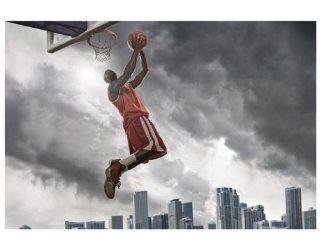 Vlies FotoTapete No.349 Thunder Storm Slam Dunk Tapete, Foto Tapeten, Basketball, Streetball, Sport, FIBA, Gewitter 145x97cm: Baumarkt