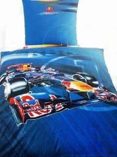 """Red Bull Racing """"Sebastian Vettel RB8"""" Formula One Team Bettwäsche, Achtung Übergröße 1 Kissenbezug mit den Maßen 80 x 80 cm und 1 Bettbezug mit den Maßen 155 x 220 cm ÜBERGRÖßE mit Reißverschluss Küche & Haushalt"""