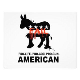 Pro life. Pro God. Pro Gun American Announcement