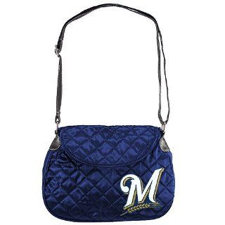 "Milwaukee Brewers ""M"" Logo Quilted Saddlebag : Sports Fan Bags : Sports & Outdoors"