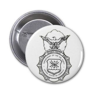 United States Air Force Security Forces Shield Button