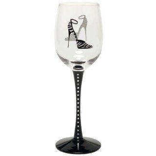 Santa Barbara Design Studio, Christopher Vine Design Shoe Boutique Wine Glass, Zebra Kitchen & Dining