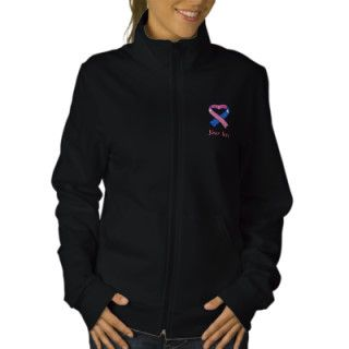 Pink and Blue Awareness Ribbon Shirt Embroidered Jacket