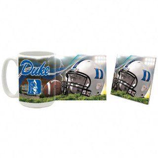 Duke Blue Devils Stadium Mug and Coaster Set  Sports Fan Coffee Mugs  Sports & Outdoors