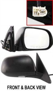 Kool Vue TY104ER Mirror Corner mount Type Passenger Side RH Plastic Primered Power Manual folding Heated Automotive