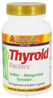 Michaels Naturopathic Programs   Thyroid Factors   120 Vegetarian Capsules