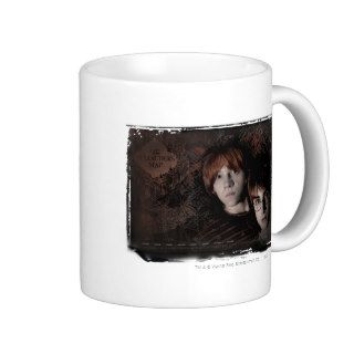 Harry Potter and Ron Marauders Map Coffee Mug