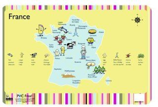 Playful Chef French Food Regions Placemat   Place Mats