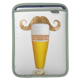 Oktoberfest, Funny blond Hipster mustache Sleeves For iPads