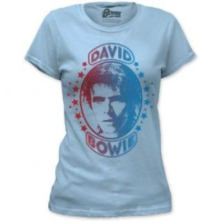 David Bowie   Girls Space Oddity T Shirt In Light Blue, Size XX Large Music Fan T Shirts Clothing