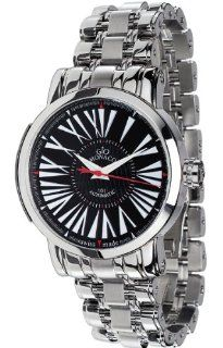 Gio Monaco Men's 153 S oneOone Automatic Black Dial Stainless Steel Watch: Watches