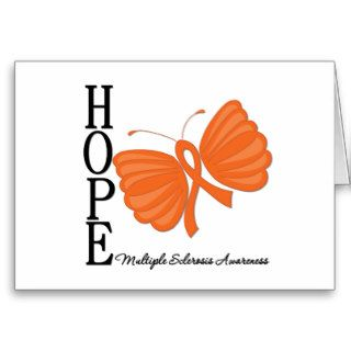 Hope Butterfly Multiple Sclerosis Awareness Greeting Card