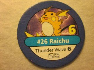Pokemon Master Trainer 1999 Pokemon Chip Blue #26 Raichu 6 Thunder Wave 6: Everything Else