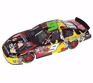 Kasey Kahne #9 2004 Dodge Intrepid Color Chrome Colorchrome Popeye Popeyes Yellow Rookie Stripes 1/24 Scale Diecast Limited Dealers Hood Opens Trunk Opens HOTO Only 504 Total Production Action Racing Collectibles ARC For Race Fans Only FRFO Toys & Gam