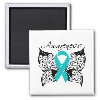 Tattoo Butterfly Awareness   PCOS Refrigerator Magnets