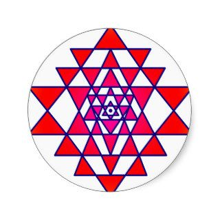 Sri Yantra Round Sticker
