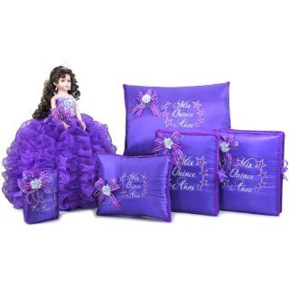 Quinceanera Doll Birthday Party Favor Set Q1001 (Add arch to doll with English bible) Kitchen & Dining