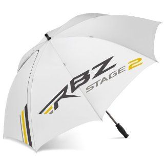 TaylorMade Triton Single Canopy Golf Umbrella, White/Gray/Gold : Rocketballz Umbrella : Sports & Outdoors
