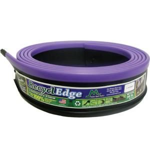 RecyclEdge 20 ft. Recycled Plastic Landscape Lawn Edging Lavender with Stakes 55620