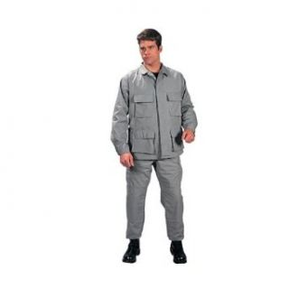 Grey Military BDU Pants (Polyester/Cotton Twill) Clothing