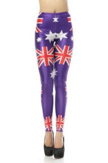 LoveLiness Britain England Star Print Leggings One Size at  Women�s Clothing store