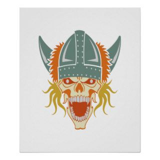 VIKING skull custom color poster