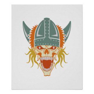 VIKING skull custom color poster