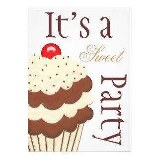 It's a sweet party birthday party invitation