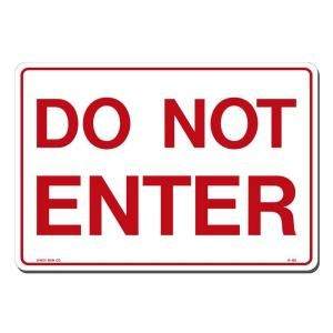 Lynch Sign 14 in. x 10 in. Black on White Plastic Do Not Enter Sign R 162