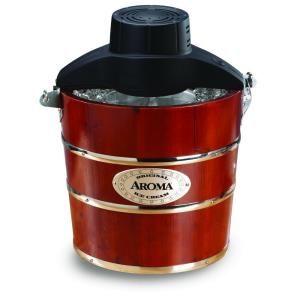 AROMA 4 qt. Wood Barrel Ice Cream Maker   DISCONTINUED AIC 204