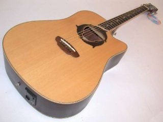 Luna Oracle Dolphin Acoustic/Electric Guitar w/ Case, Solid Spruce Top, OCL DPN Musical Instruments
