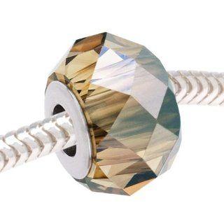 SWAROVSKI ELEMENTS Crystal BeCharmed Bead   European Style Large 4.5mm Hole   Bronze Shade