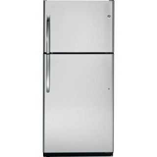 GE 18 cu. ft. Top Freezer Refrigerator in Stainless Steel GTZ18IBESS
