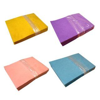 Acrylic Felt Value Pack   Yellow, Light Pink, Lavender And Light Blue (25 Sheets Per Colour)   Felt Raw Materials