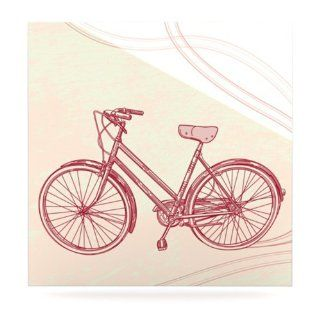 Kess InHouse Sam Posnick Bicycle Aluminum Floating Art Panel, 8 by 8 Inch