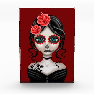 Sad Day of the Dead Girl on Red Award